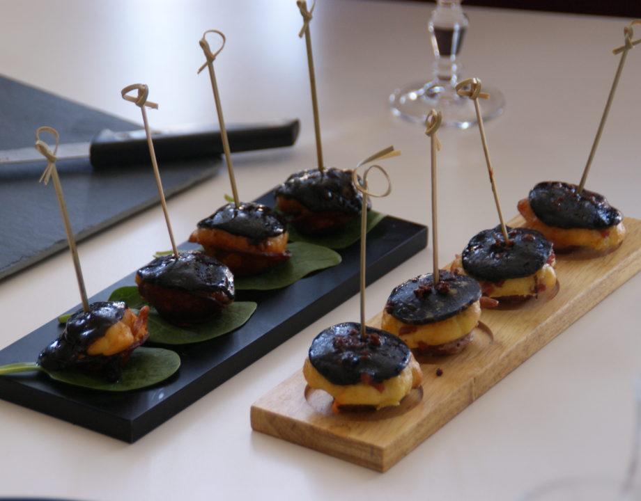 Mini cakes Black Cheddar et chorizo/bacon