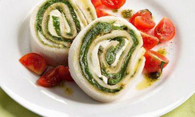 feuille de Mozzarella et épinards