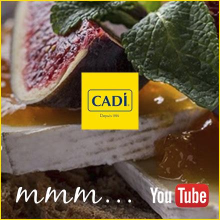 Annonce de la présence de recettes sur la chapine Youtube de Cadi